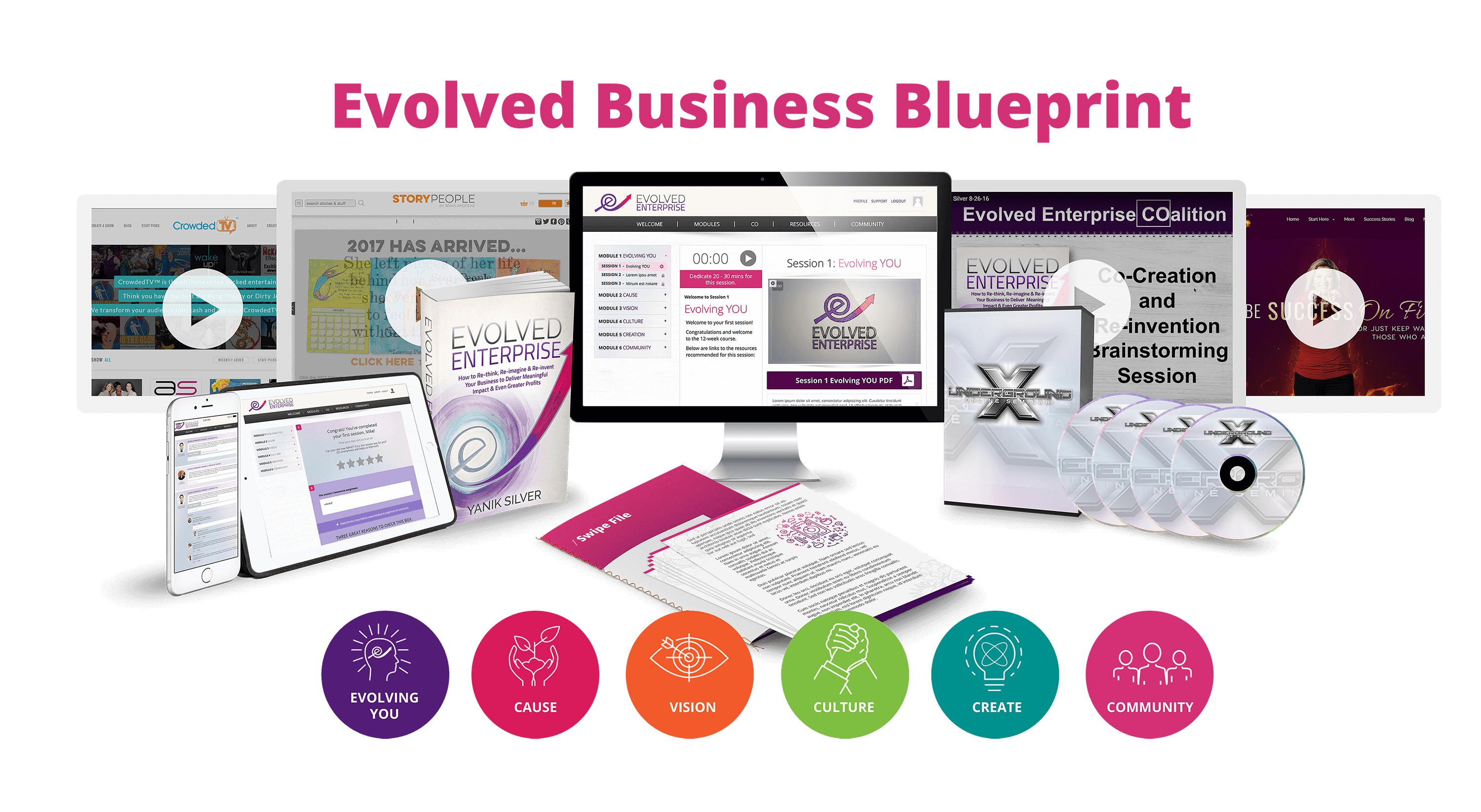 Catalyze a Tribe of Raving Fans, Customers and Ambassadors to Spread Your Business... The Evolved Enterprise!